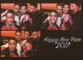 celebrating New Year's Eve at Adam's house in LA 1-1-2017