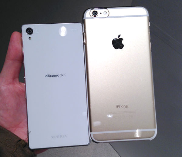 Xperia Z3 SO-01G とiPhone 6 plusの大きさ比較