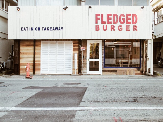 fledged burger外観