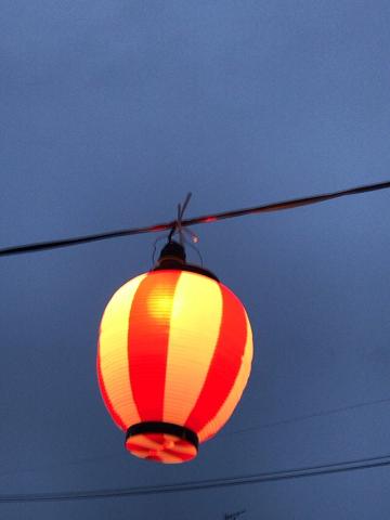 盆踊りの提灯