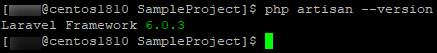 Laravelのバージョン確認