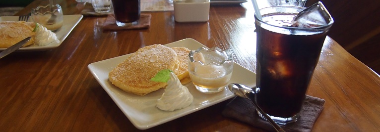 Kicks Cafeのパンケーキ