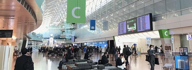 羽田空港の出発口