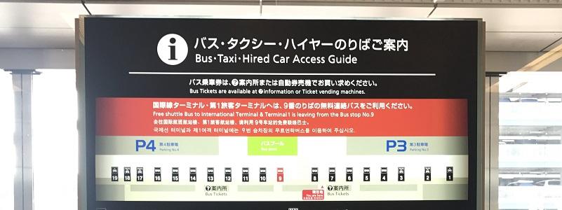 羽田空港のバス乗場マップ