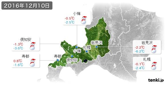 12月10日の札幌の天気図