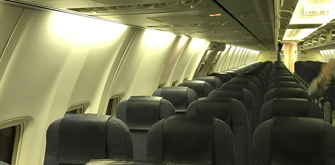 石垣島行きの機内の様子