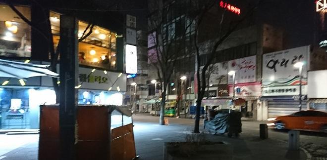 ソウルの夜の鍾路の路地