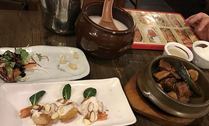 民族料理店のチョンの韓定食