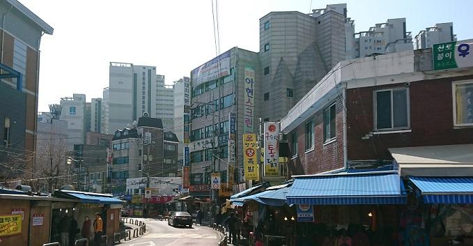 阿峴(アヒョン)駅の4番出口出てすぐの裏側