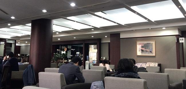 金浦空港のアシアナラウンジの様子