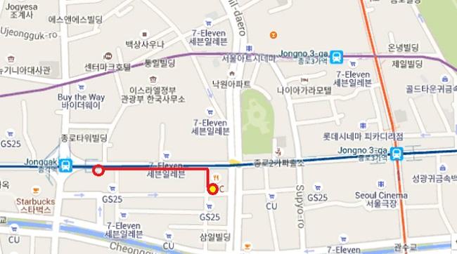 サンガ駅からハナムデジヂッの店舗への道程