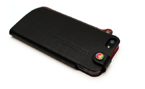 【正規品】LIM'S DESIGN iPHONE 5用高級本革レザーケース PRENIUM GENUINE LEATHER EDITION ブラック LE-IP5PBK