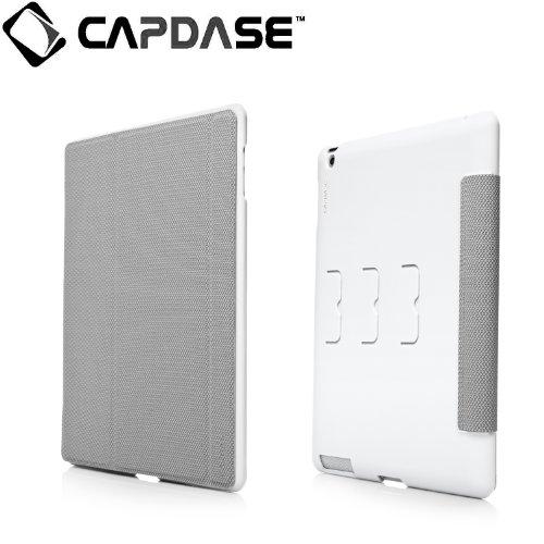CAPDASE 日本正規品 iPad Retinaディスプレイモデル (第4世代) / iPad (第3世代) / iPad 2 対応 対応 Soft Jacket Sider Rhombi, White/Grey ソフトジャケット+スクリーンカバータイプ ケース(3段階スタンド機能つき) ホワイト/グレー SJAPIPAD3-SR2G
