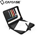 CAPDASE 日本正規品 iPad Retinaディスプレイモデル (第4世代) / iPad (第3世代) / iPad 2 対応 対応 Folder Case Zip Lapa, Black (スタンド機能・収納ポケット ドックコネクタ &イヤホンジャック キャップつき) システム手帳スタイル PUレザー フォルダーケース 「ジップ・ラパ」 ブラック FCAPIPAD3-LP01