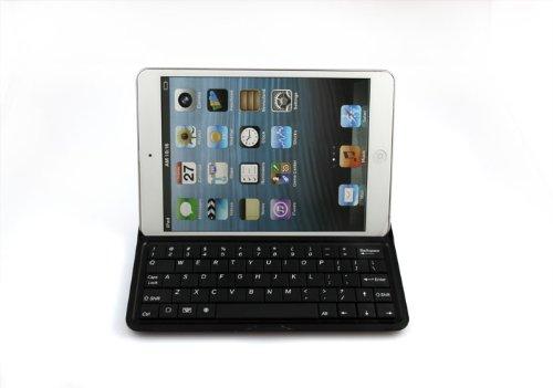 koolertron iPad Mini アルミ ワイヤレスキーボード 保護ケースにもなる アルミ材質+スクリーム保護+内臓電池スタンド機能! 全2色 (ホワイト)