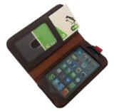 古い洋書のような iPhone 5 専用ケース Bookケース suica/pasmoも収納可能 ブラウン 茶