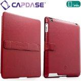 CAPDASE 日本正規品 iPad Retinaディスプレイモデル (第4世代) / iPad (第3世代) / iPad 2 対応 Capparel Protective Case: Forme, Red / Black ハンドメイド本革張レザーケース 「フォーマ」 (3段階スタンド機能・ドックコネクタ &イヤホンジャック キャップ つき) レッド / ブラック CPAPIPAD2-1091
