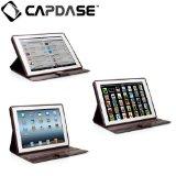 CAPDASE 日本正規品 iPad Retinaディスプレイモデル (第4世代) / iPad (第3世代) 対応 Protective Case Flip Jacket, Brown 3段階スタンド機能つき ブックタイプ レザー調ケース 「フリップ・ジャケット」(ドックコネクタ &イヤホンジャック キャップ つき) ブラウン FCAPIPAD3-PU08