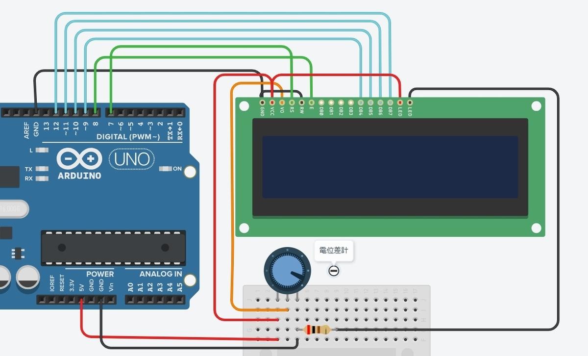 LCDモジュールへの接続
