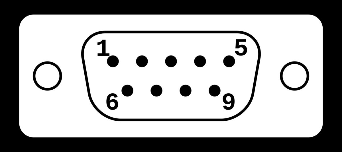 D sub 9ピンのコネクタ形状(Wikipediaより)
