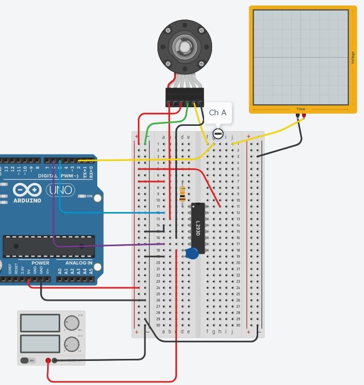 エンコーダー付きDCモーターへの接続