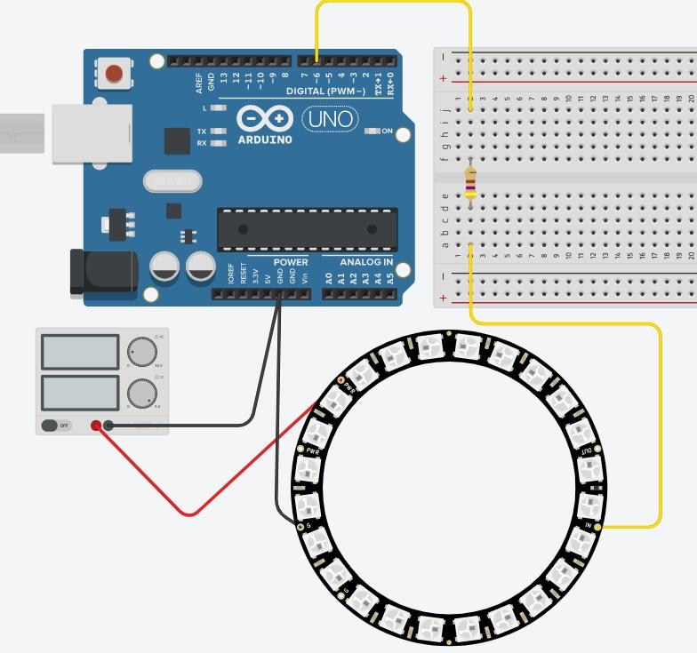 Neopixelとの接続