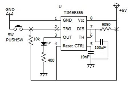 ワンショットタイマー回路図
