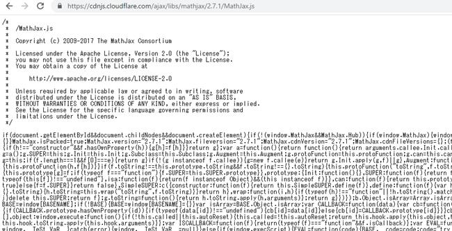 """""""MathJax 2.7.1ライブラリへのアクセス"""""""