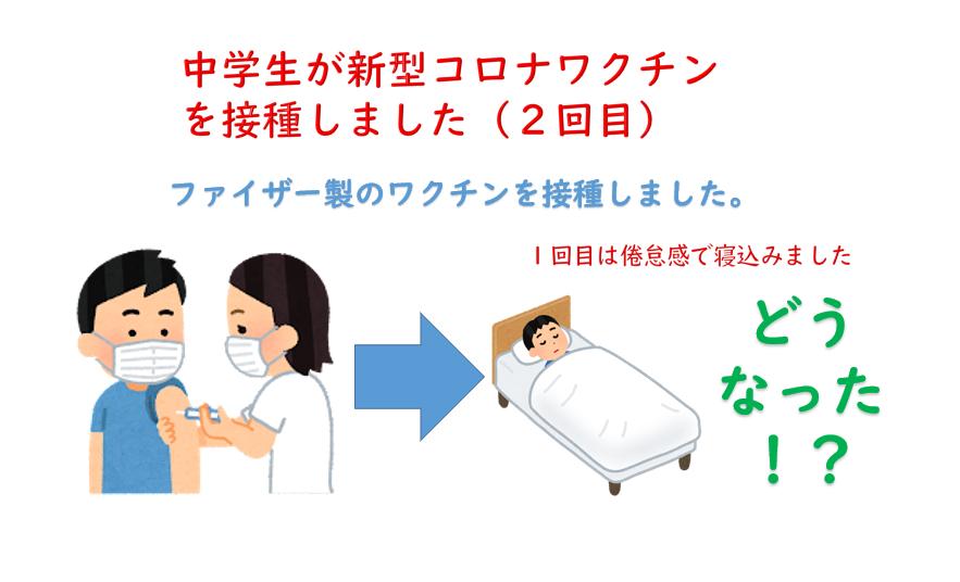 中学生が新型コロナワクチンを接種しました(2回目)