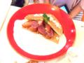 生ハムと紅玉りんごのワッフルチーズフォンデュ01@FOURSEASONS CAFE