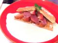 生ハムと紅玉りんごのワッフルチーズフォンデュ02@FOURSEASONS CAFE