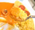 海老のトマトクリームソースのオムライス04@FOURSEASONS CAFE 2014年04月