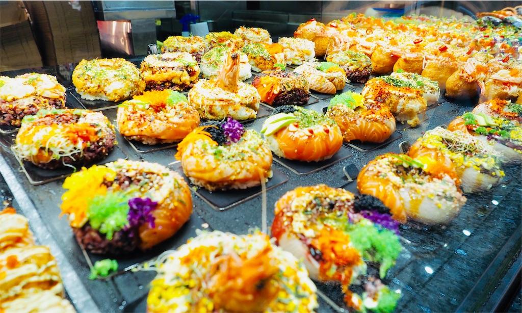 シドニーの市場のお寿司