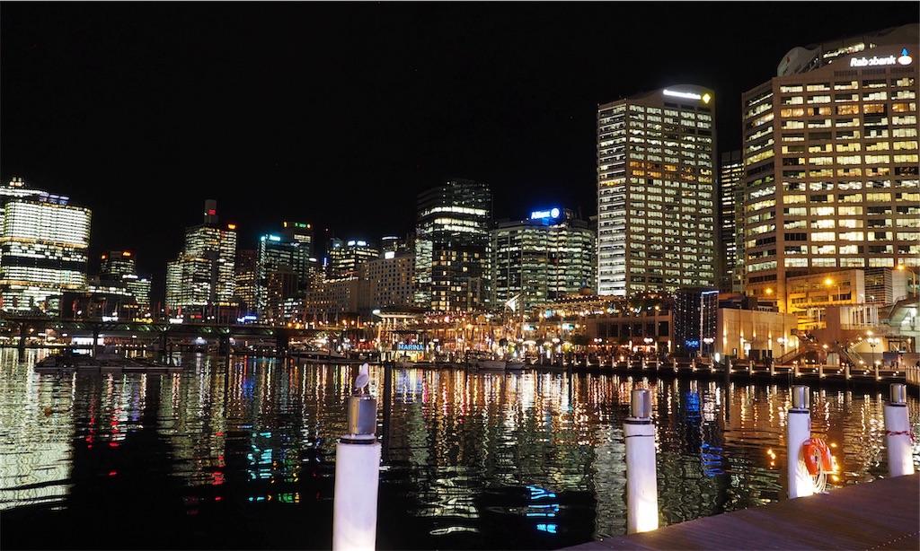 夜のシドニーハーバー