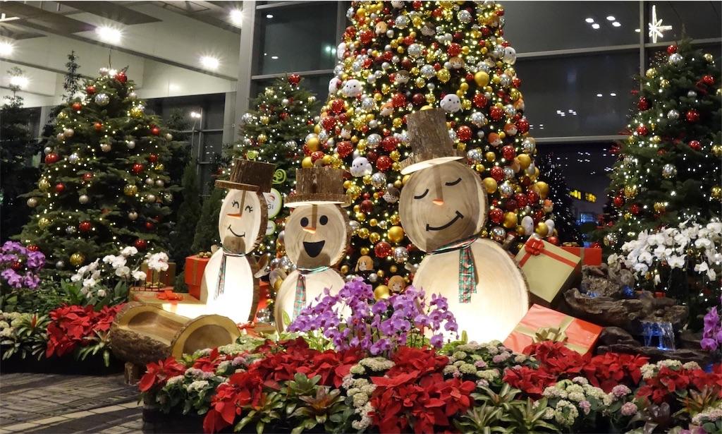 シンガポールチャンギ空港のクリスマス飾り