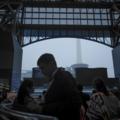 京都駅 大雨