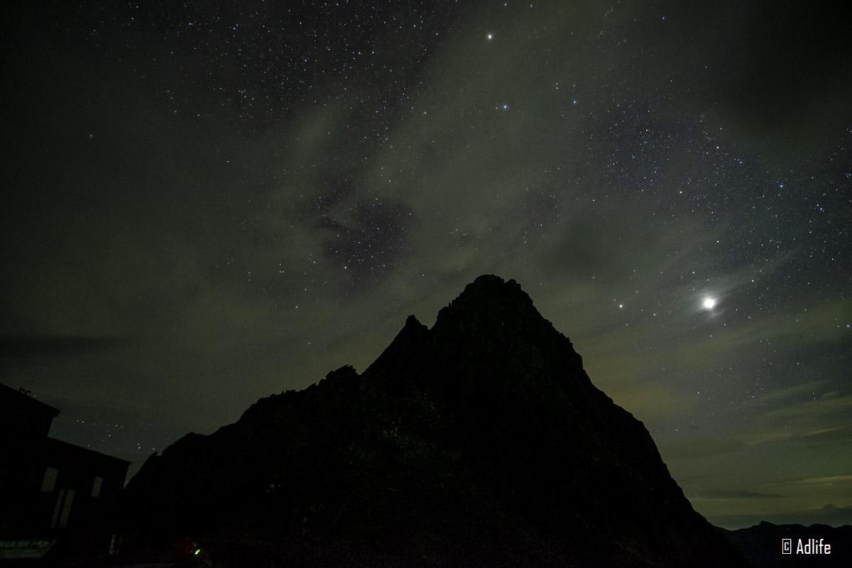 槍ヶ岳の星景