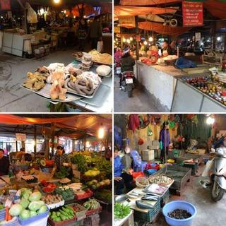 ハノイの市場の様子