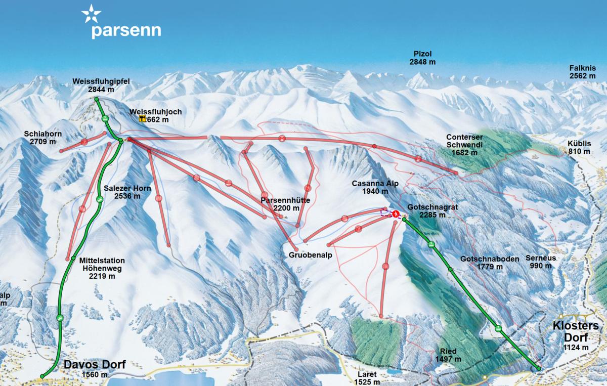 Davos Parsenn skimap
