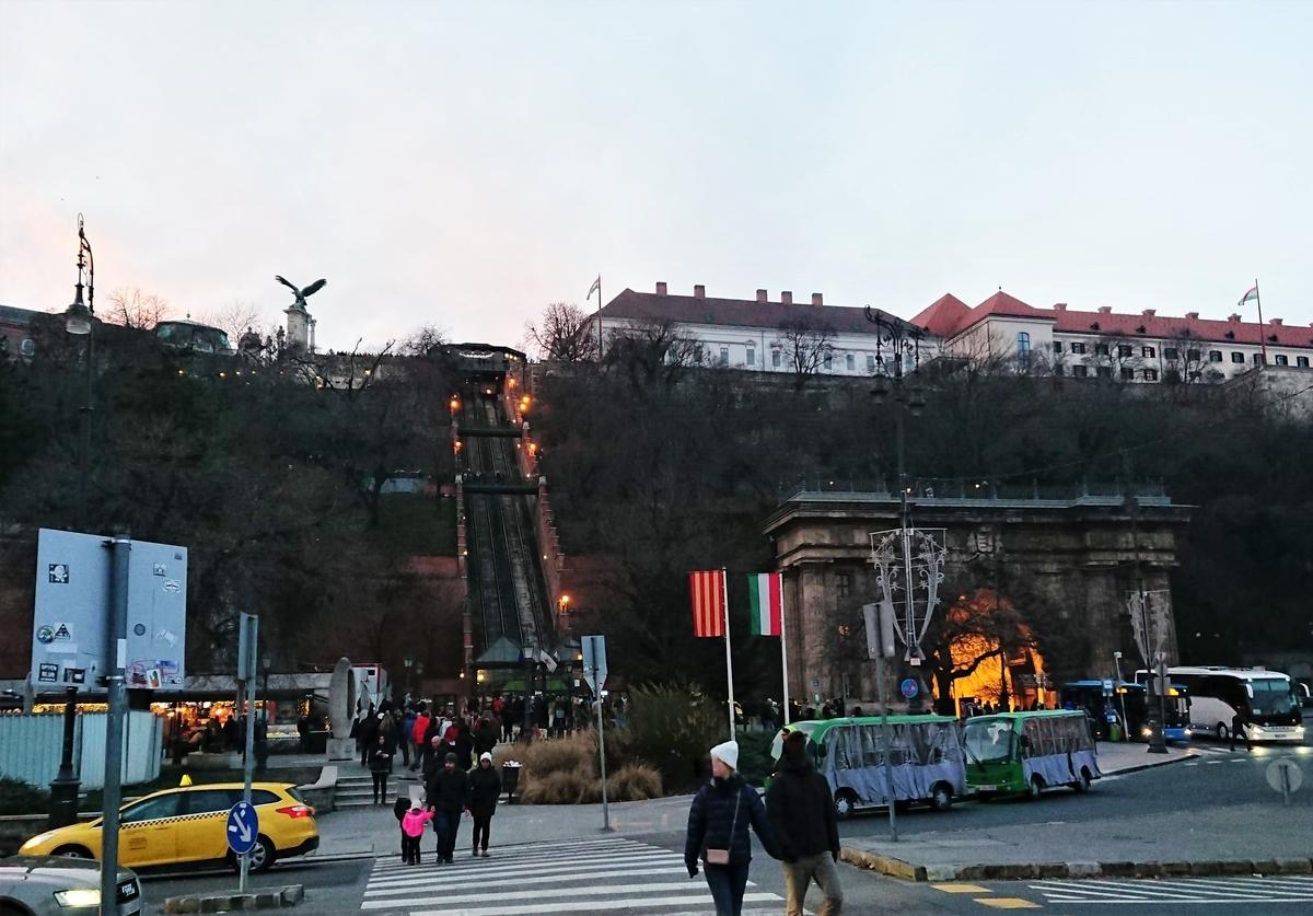 ブダペスト ケーブルカー 王宮の丘