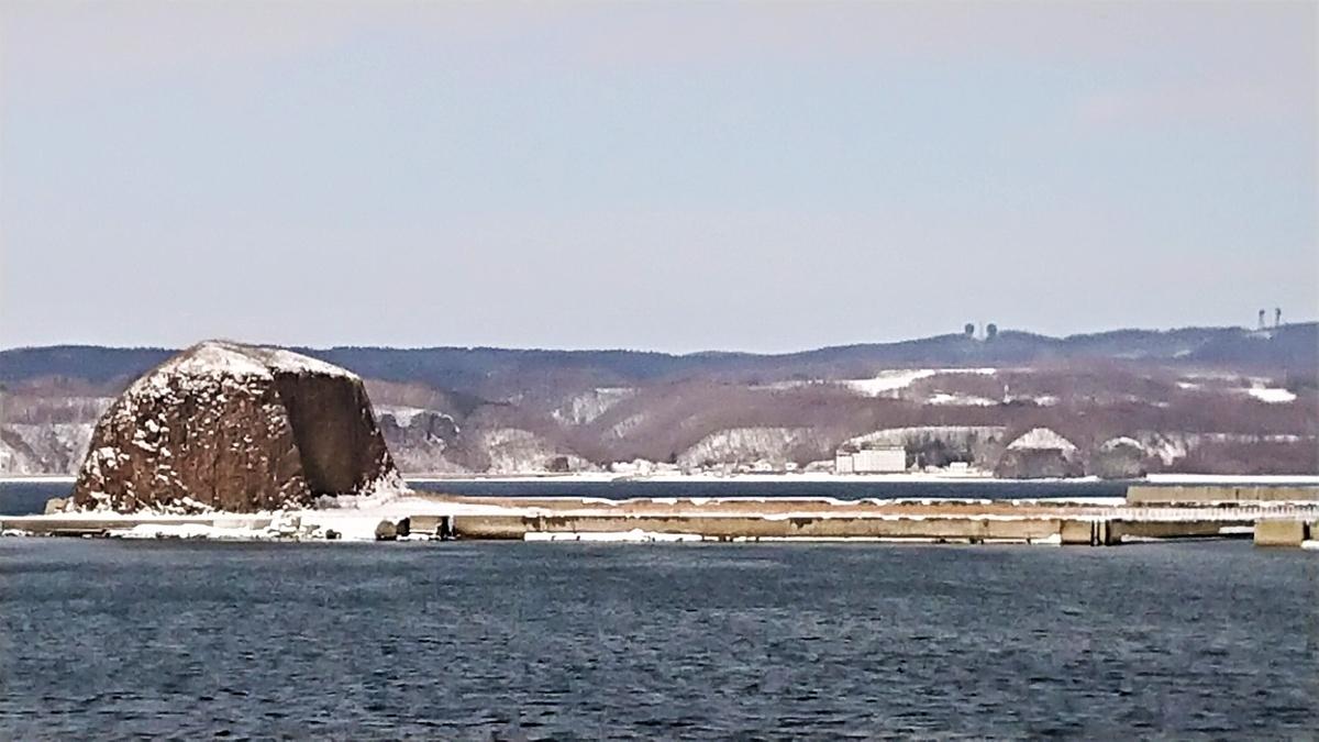 網走流氷観光砕氷船 おーろら 帽子岩