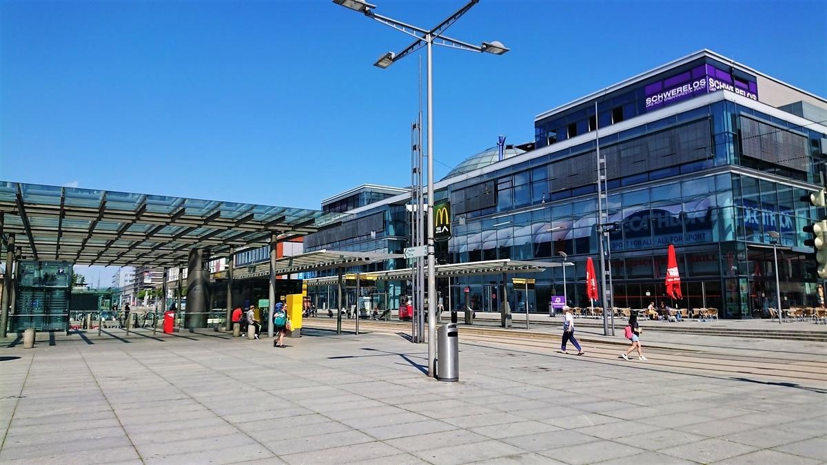ドレスデン中央駅 トラム乗り場