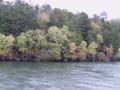 阿寒湖上の紅葉