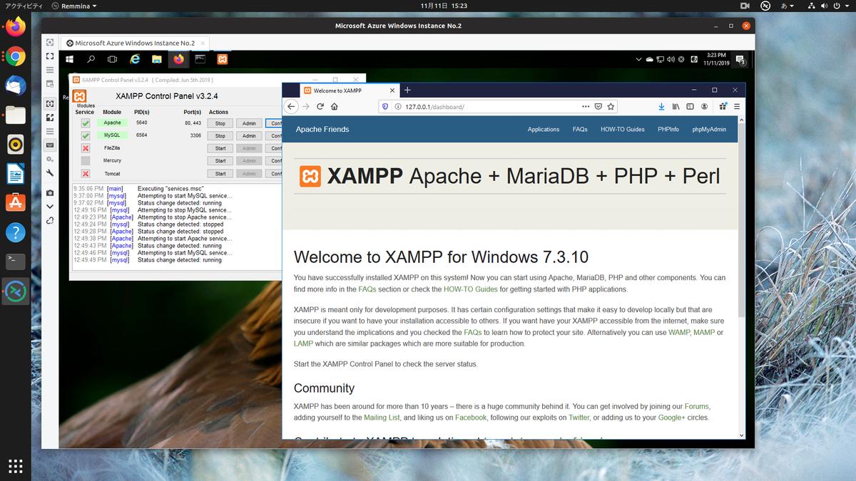 Confirmed xampp
