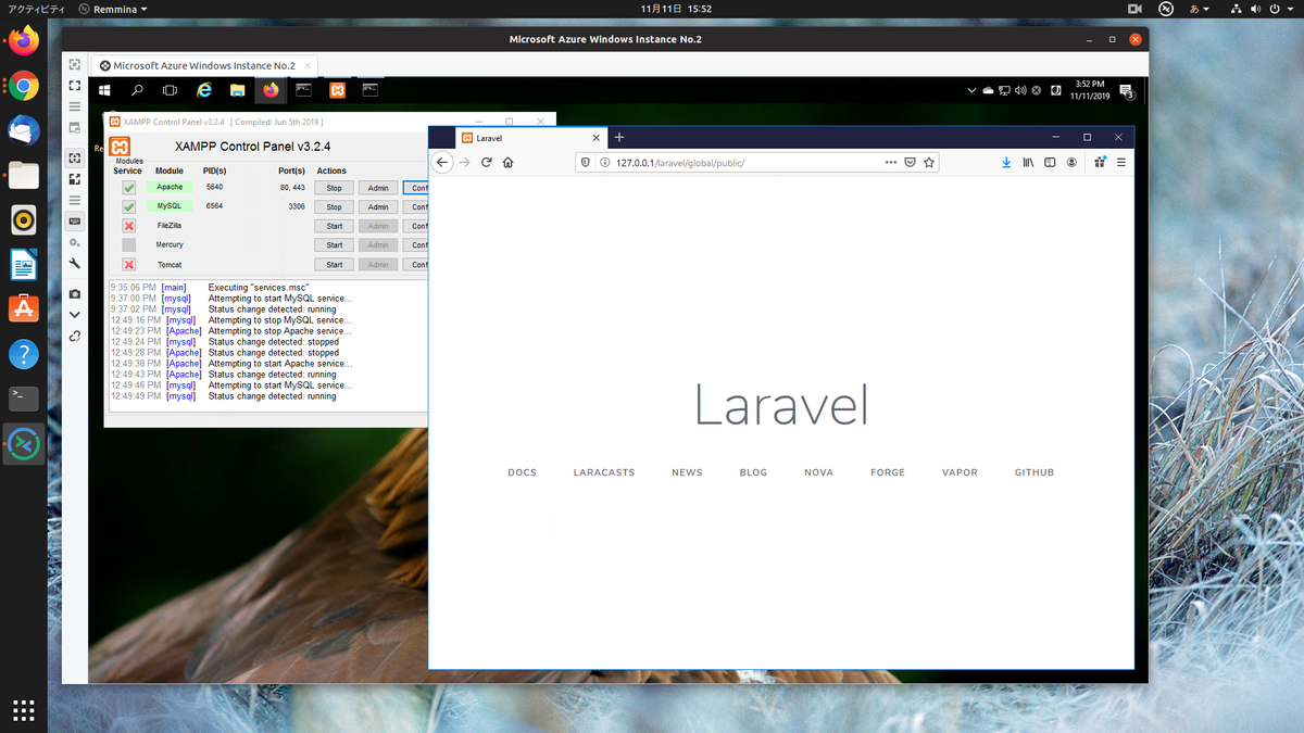 Connect to local laravel