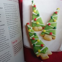 Lime Shortbread Trees
