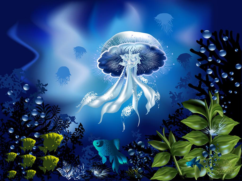 無料/フリーbgm素材】海底、不思議、神秘的『海月』おしゃれな雰囲気