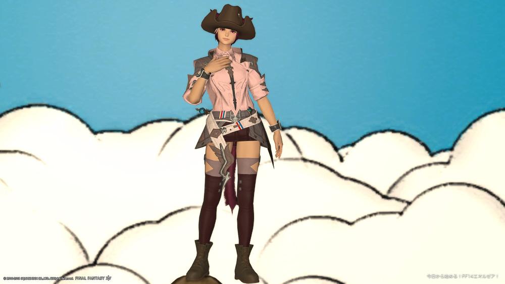 グループポーズで女性キャラクターを撮影したスクリーンショット