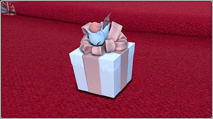 プレゼントボックス。ミニオン「プレゼンター」。(FF14)
