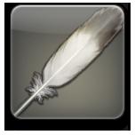 友達招待キャンペーンでもらえるシルバーチョコボの羽のアイコン。(FF14)